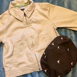 Gymboree coat and flat cap
